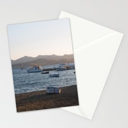 Boats at Sunrise Stationery Cards