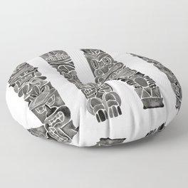 Tiki Totems – Black Floor Pillow