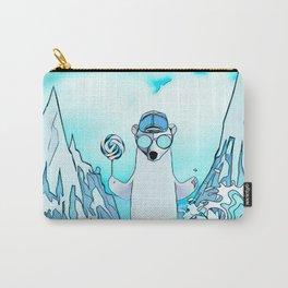 Polar bear on the surf board Carry-All Pouch