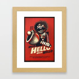 HELLO! HELLO! (red) Framed Art Print