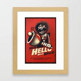 HELLO! HELLO! (red) Framed Art Print