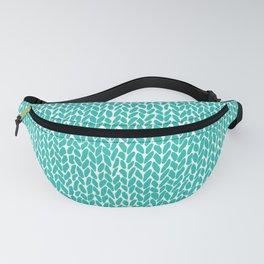 Hand Knit Aqua Fanny Pack
