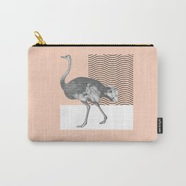 Ostrich in French Carry-All Pouch
