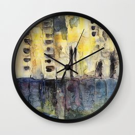city scape Wall Clock