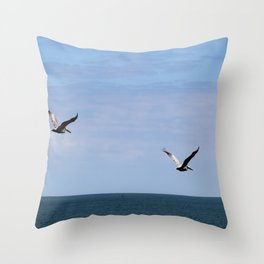Pair of Pelicans Throw Pillow