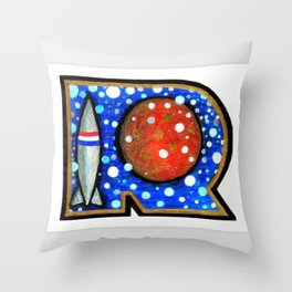 R is for Rock Throw Pillow