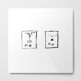 Moose Pin-up Print Metal Print