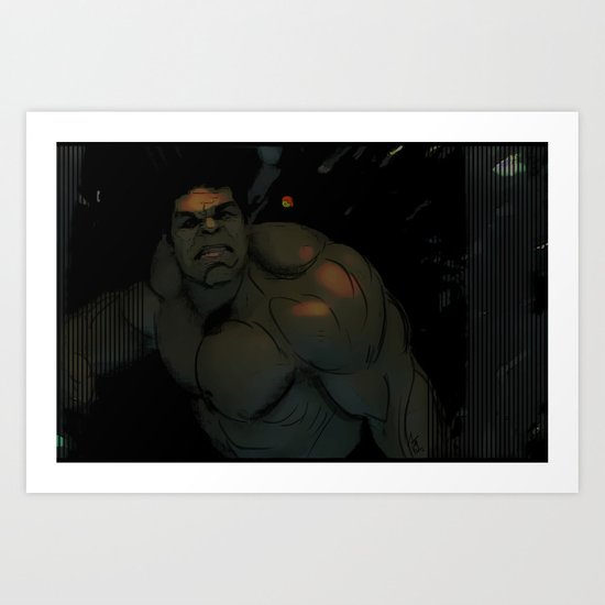 Hulk! Rage Art Print