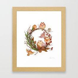 Christmas Owls Framed Art Print