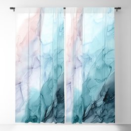 Beachy Pastel Flowing Ombre Abstract Flip Blackout Curtain