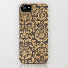 Gold swirls damask #8 iPhone Case