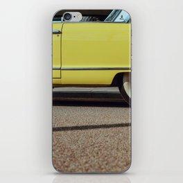 Retro yellow car iPhone Skin