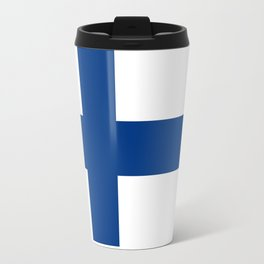 Finnish Flag - high quality image Travel Mug