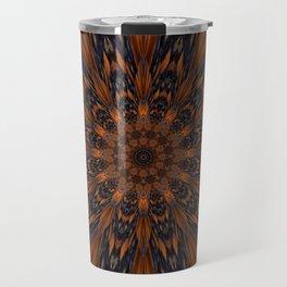 Energizing bronze mandala Travel Mug