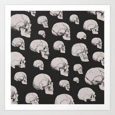 On the Two Principal Forms of Ancient British and Gaulish Skulls Art Print