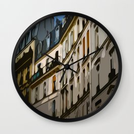 Paris Houses Wall Clock