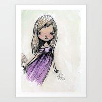 sasha grey Art Prints featuring Sasha by solocosmo