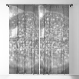 Black-and-White Water Droplet Sheer Curtain