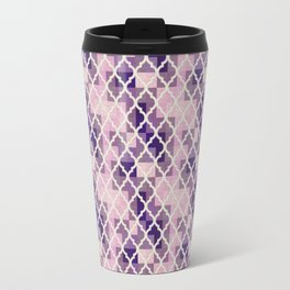Pink & Purple Quatrfoil Travel Mug