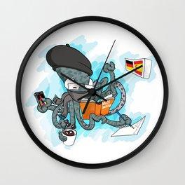 Multitasking Octopus Wall Clock