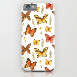 Butterfly Totem White Background iPhone Case