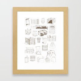 Cover, Contain, COMPOST- 1 of 3 Framed Art Print
