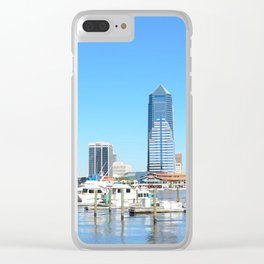 Jacksonville City Skyline Clear iPhone Case