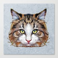 meow Canvas Prints featuring MEOW by Ancello
