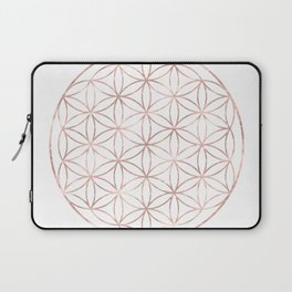 Mandala Rose Gold Flower of Life Laptop Sleeve