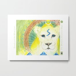 Sowelo and the White Lion Metal Print
