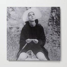 Nun Rolling Joint Sisters of Mercy Vintage Poster black and white photography - photograph Metal Print