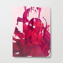 Embers: a vibrant abstract piece in pinks Metal Print