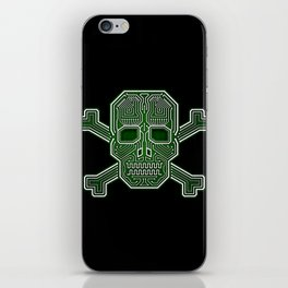Hacker Skull Crossbones (isolated version) iPhone Skin