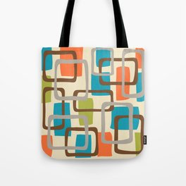 Mid Century Modern Overlapping Squares Pattern 133 Tote Bag