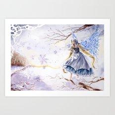 Winter faery Art Print