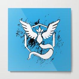 Team Blue Metal Print