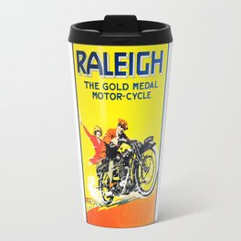 Raleigh Motorcycle, vintage poster Travel Mug