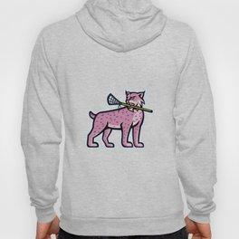 Bobcat or Lynx Lacrosse Mascot Hoody