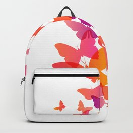 Butterfly Pink Butterflies Flying Off Backpack