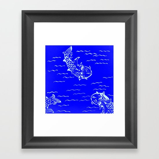 Happy fish -2 Framed Art Print