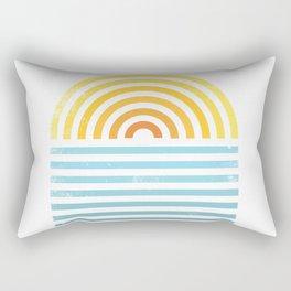 Retro Sunset Rectangular Pillow