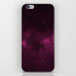 Fascinating view of the pink cosmic sky iPhone Skin