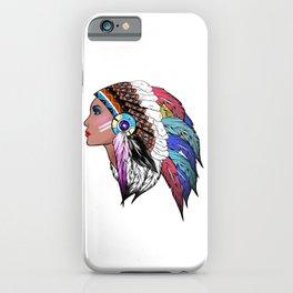 Native American woman,Indian American design iPhone Case