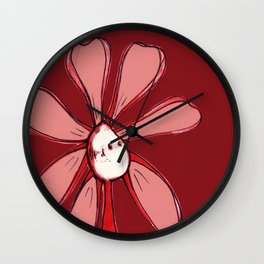 """Red"" Color Chakra Flowerkid Wall Clock"
