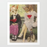 Contemplating 21 - Collage Collections Art Print