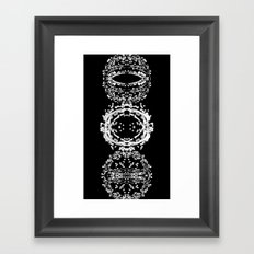 FLUX TWO  triptych F02ex01BW 1-2720 Framed Art Print