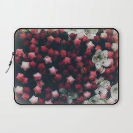 Floral Stars -Dark Red Laptop Sleeve
