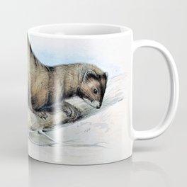 Edward Lear - A Weasel - Digital Remastered Edition Coffee Mug