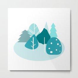 green trees Metal Print