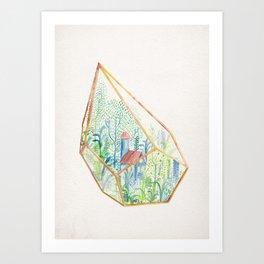 Terrarium Garden I Art Print